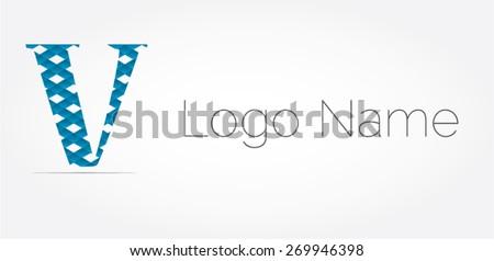 letter v logo icon design template ベクター画像素材 269946398