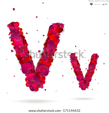 V Alphabet Images With Love Original v Stock Photos, Images, & Pictures | Shutterstock