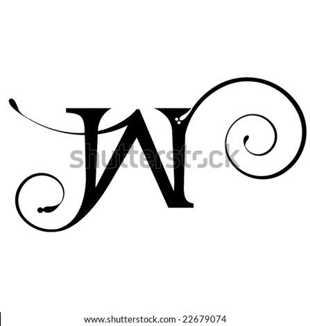 Letter W - stock vector