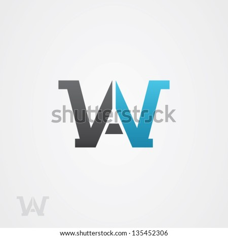 Letter W Abstract Logo Symbol - stock vector