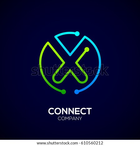 M Rank Letter X Logo Circle Shape