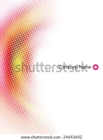 letterhead abstract design blank - stock vector