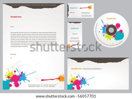 Letterhead Template design - stock vector