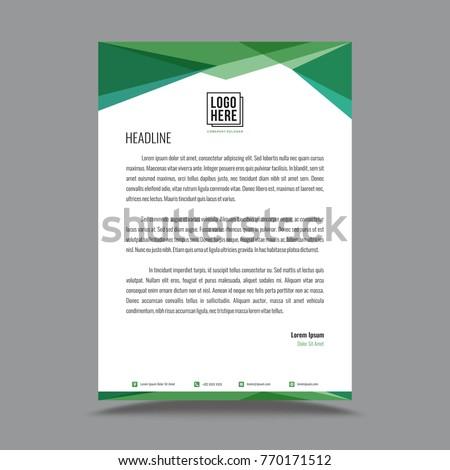 Letterhead template design stock vector 770171512 shutterstock letterhead template design spiritdancerdesigns Gallery