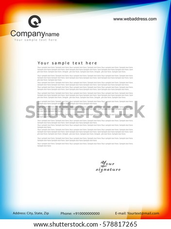 Letterhead vector template stock vector 578817265 shutterstock letterhead vector template spiritdancerdesigns Image collections