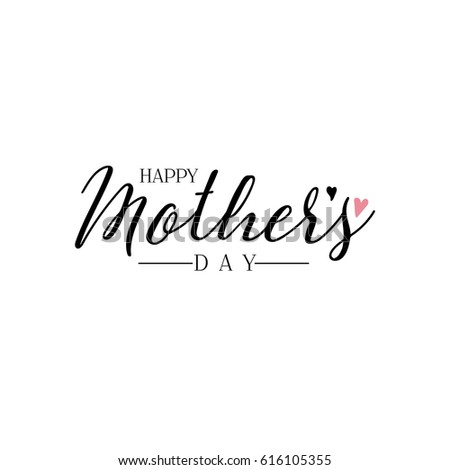 Lettering calligraphy modern mothers day sticker stock Calligraphy logo
