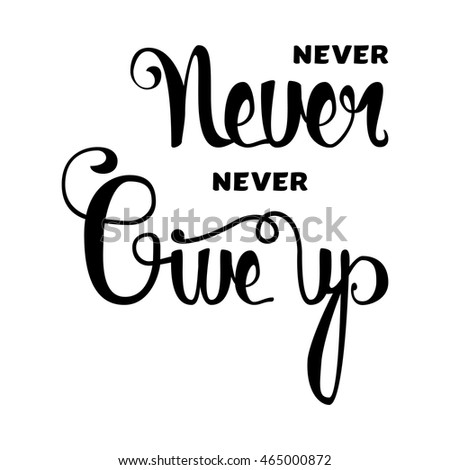 Lettering Motivation Poster Inspirational Quote About Stock Vector ...