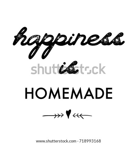 Lettering Quotes Motivation Life Happiness Calligraphy Stock Vector  718993168   Shutterstock