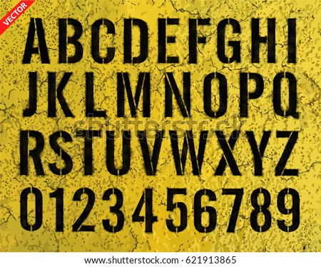 letter and number stencils