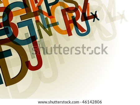 Letters background design series - stock vector