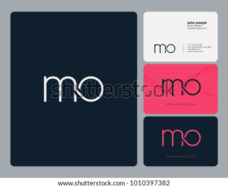 Letters m o m o joint stock vector 2018 1010397382 shutterstock letters m o m o joint logo icon with business card vector template colourmoves