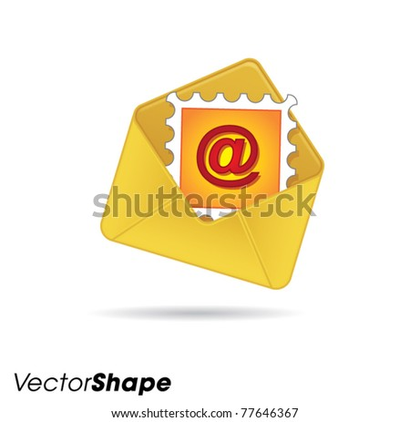 Letters web application icons no.4, send and receive stamp, vector illustration