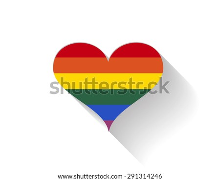 lgbt heart shape love background icon vector / love lgbt heart shape - stock vector