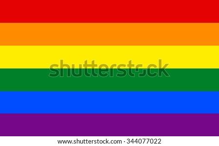 LGBT pride flag  in vector format. Rainbow flag. - stock vector