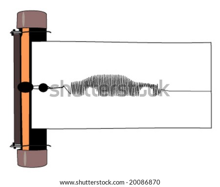 liar detector with car image vector illustration - stock vector