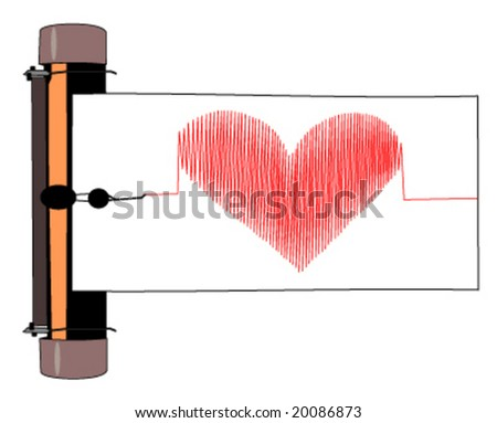 liar detector with heart image vector illustration - stock vector