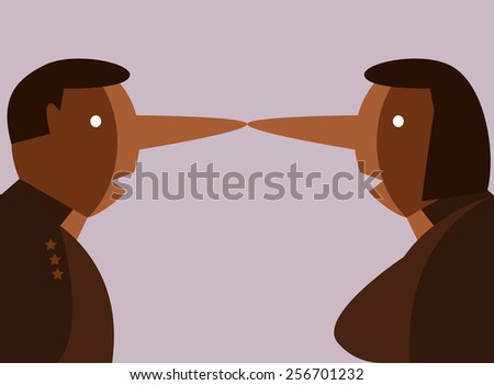 liar people. flat design character. vector illustration - stock vector