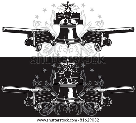 Liberty Emblem - stock vector