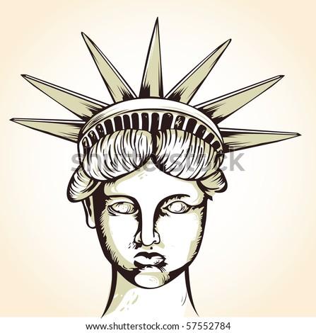 Liberty illustration - stock vector