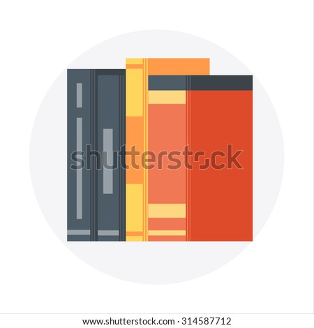 Library, documents  theme, flat style, colorful, vector icon for info graphics, websites, mobile and print media. - stock vector