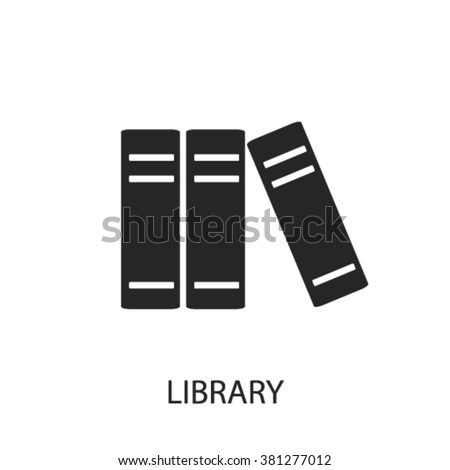 library icon  - stock vector