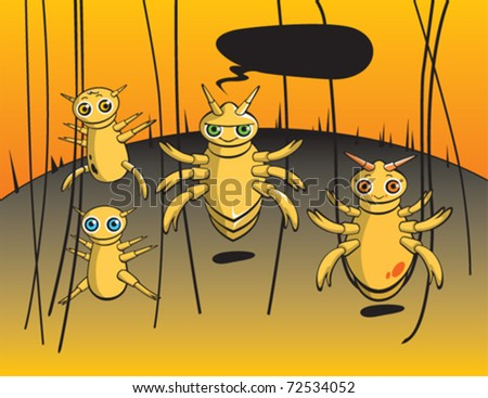 Lice family character - stock vector