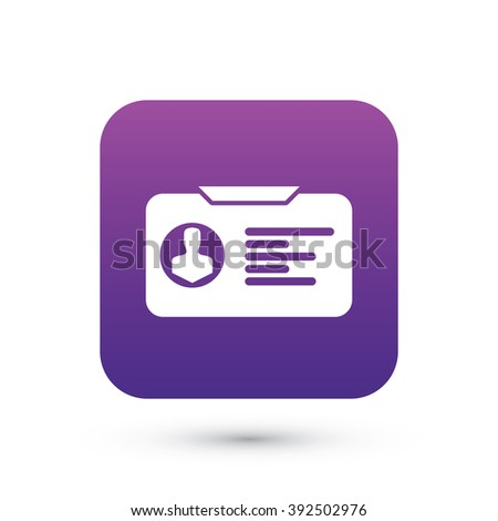 Licence Vector Icon | Vector Isolated Object Element Colorful Sign Icon Flat Illustration Pictograph Silhouette Logo - stock vector