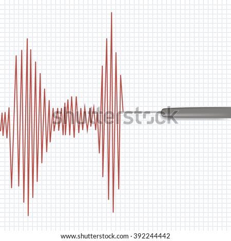 Lie detector test.Vector illustration.  - stock vector
