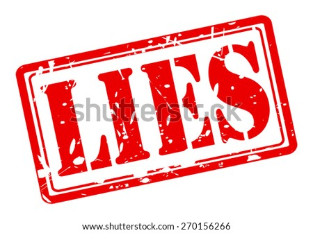Lies red stamp text on white - stock vector
