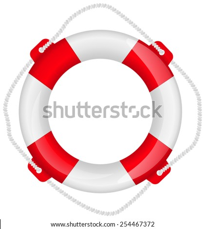 Life buoy- vector drawing isolated on white background