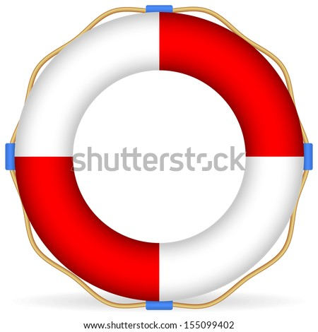 Rope Logo Vector Life Buoy Vector With Rope And