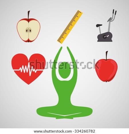 life health design, vector illustration eps10 graphic  - stock vector
