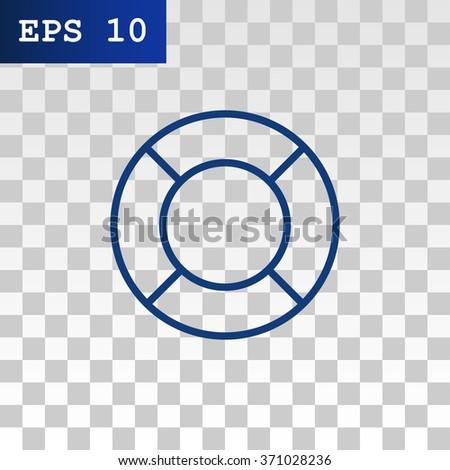 Life preserver icon - stock vector