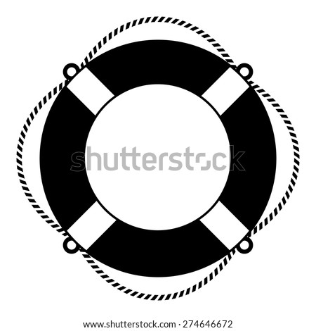 Life ring icon - stock vector