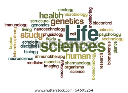 Life sciences - Word Cloud - stock vector