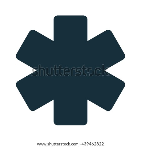 life star medical icon - stock vector