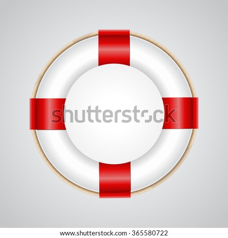 Lifebelt, lifebuoy, vector illustration