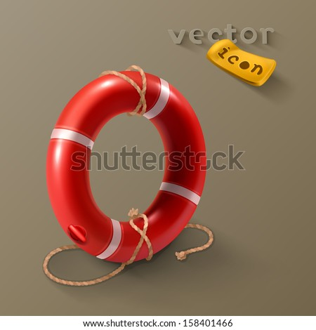 Lifebuoy icon - stock vector