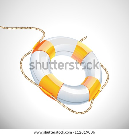 lifebuoy in the air vector illustration on white background - stock vector