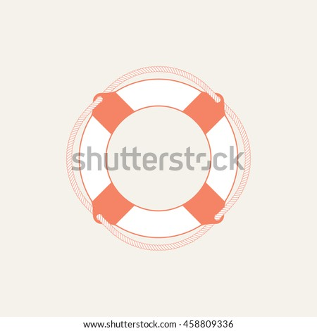 Lifebuoy / life preserver icon. Vector illustration - stock vector