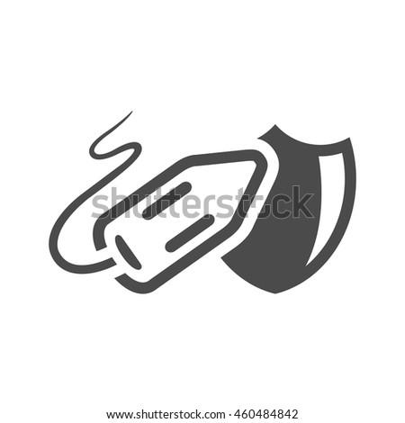 Lifeguard rescue icon in black and white grey single color. - stock vector