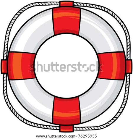 lifesaver - stock vector