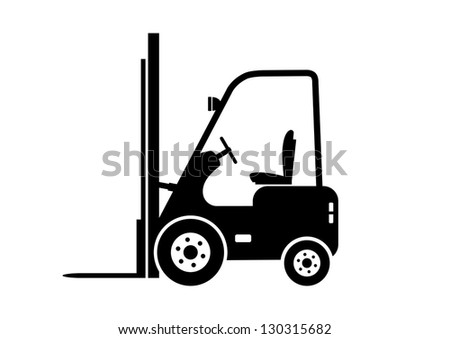 Lift truck icon - stock vector