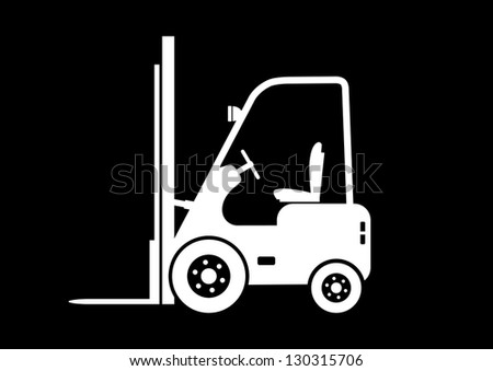 Lift truck icon - stock vector