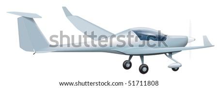 Light aircraft - stock vector