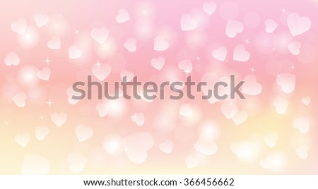 Light and tender hearts background
