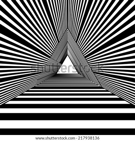 Light At The End Of Tunnel Triangle Exit Vector 01 - stock vector