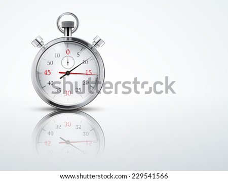 Light Background with chronometer stopwatches. Business or Sport symbol of timing. Editable Vector illustration. - stock vector