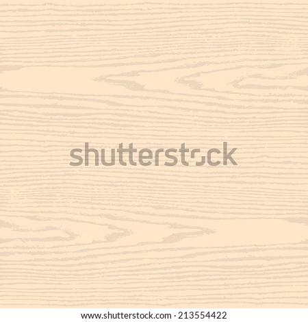 Light beige wood texture background in square format. Blank natural pattern swatch template. Realistic plank with annual years circles. Flat style. Vector illustration design elements in 10 eps - stock vector