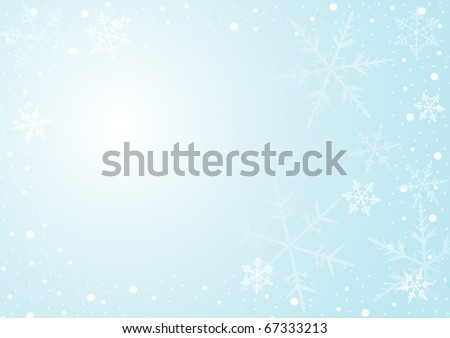 Light blue background with showflakes - stock vector